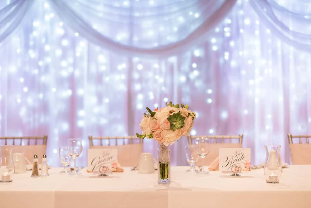 Ottawa wedding venues century weddings and events flowers and century events head table twinkle light backdrop junglespirit Gallery