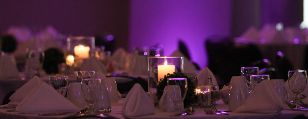 Simple Centerpiece with Lighting Pacakge